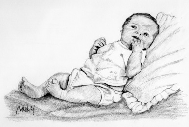 Sketch of baby