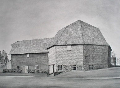 Barn drawing in pencil (graphite)